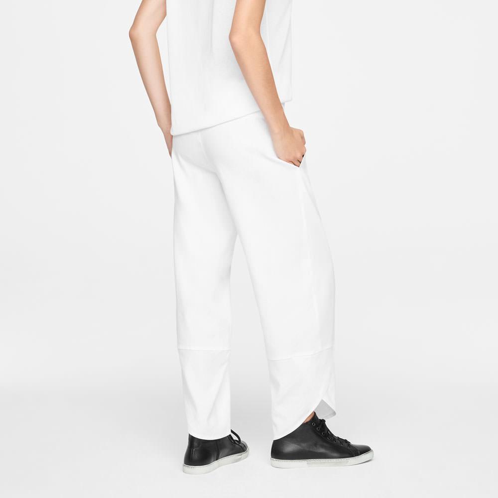 Sarah Pacini LINEN PANTS - SLANTED HEMS Back view