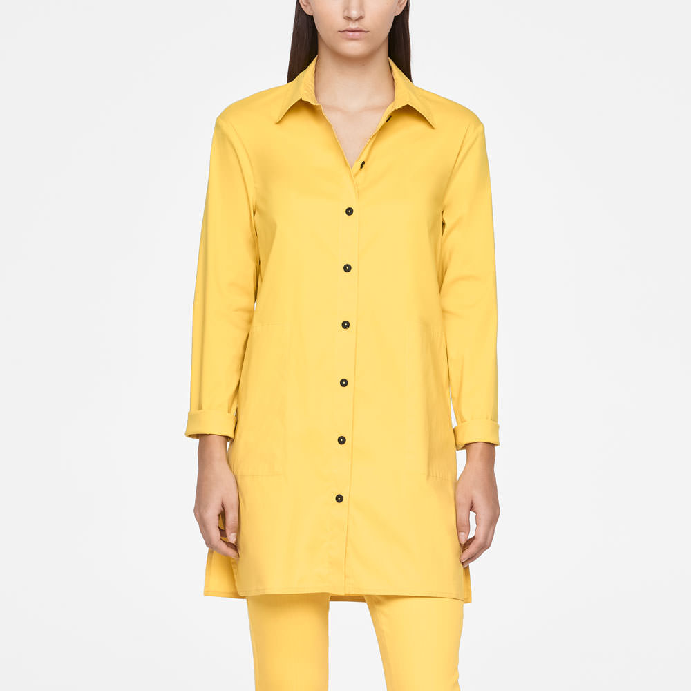 Sarah Pacini LONG SHIRT - SIDE SLITS Front