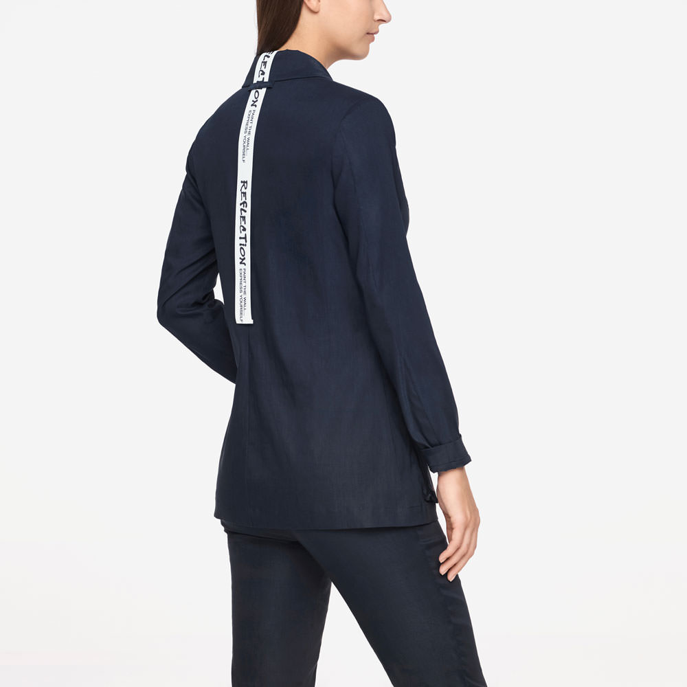 Sarah Pacini STRETCH LINEN JACKET Back view