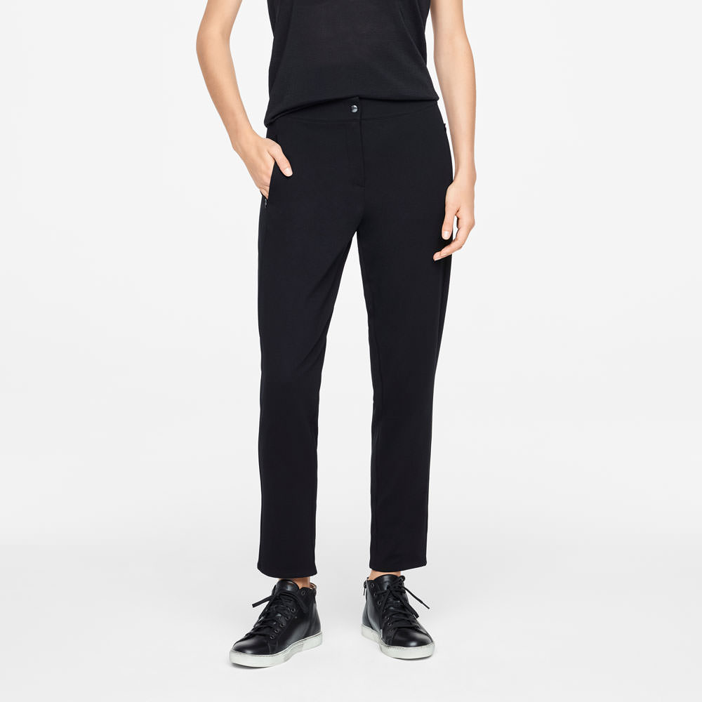 Sarah Pacini JERSEY PANTS - ZIPPER POCKETS Front