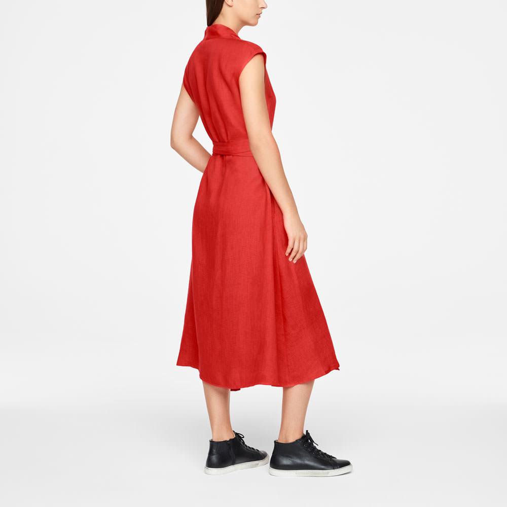 Sarah Pacini LINEN WRAP DRESS - MAXI Back view
