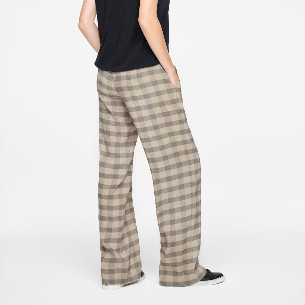 Sarah Pacini AUDREY PANTS - TARTAN Back view