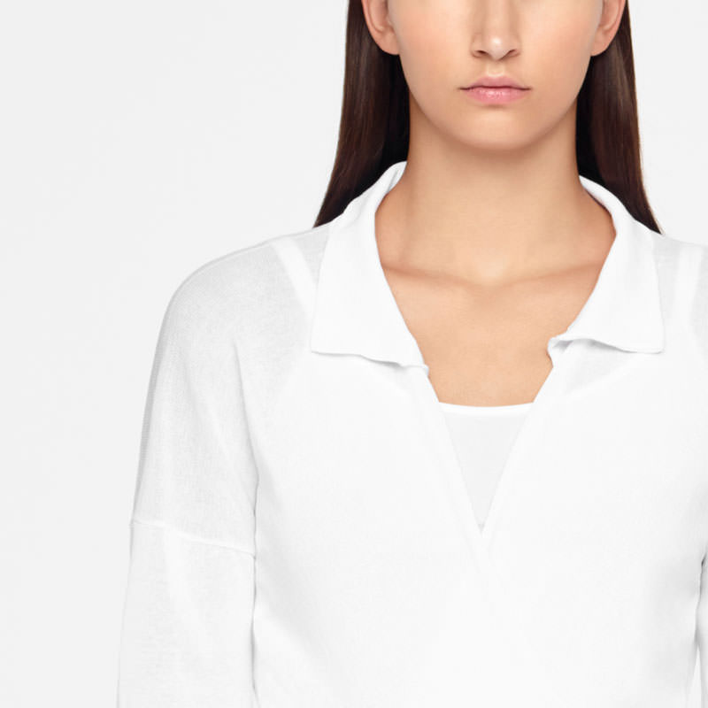 Sarah Pacini COTTON WRAP-TOP Front