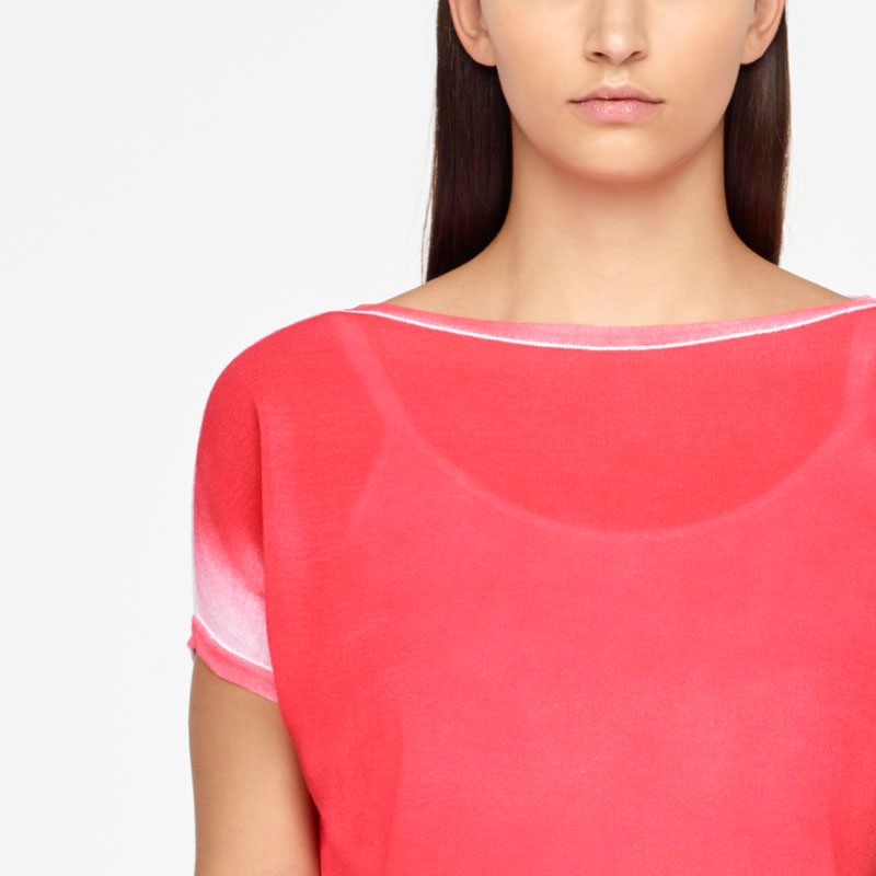 Sarah Pacini GRADIENT SWEATER - CAP SLEEVES Front