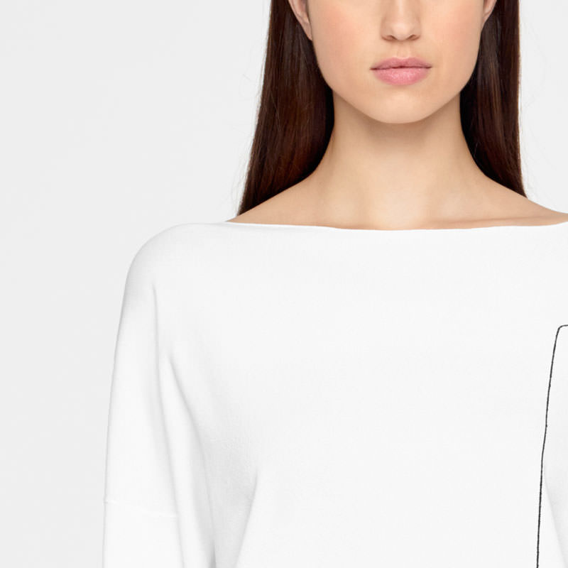 Sarah Pacini LIGHT SWEATER - FULL SLEEVES Front