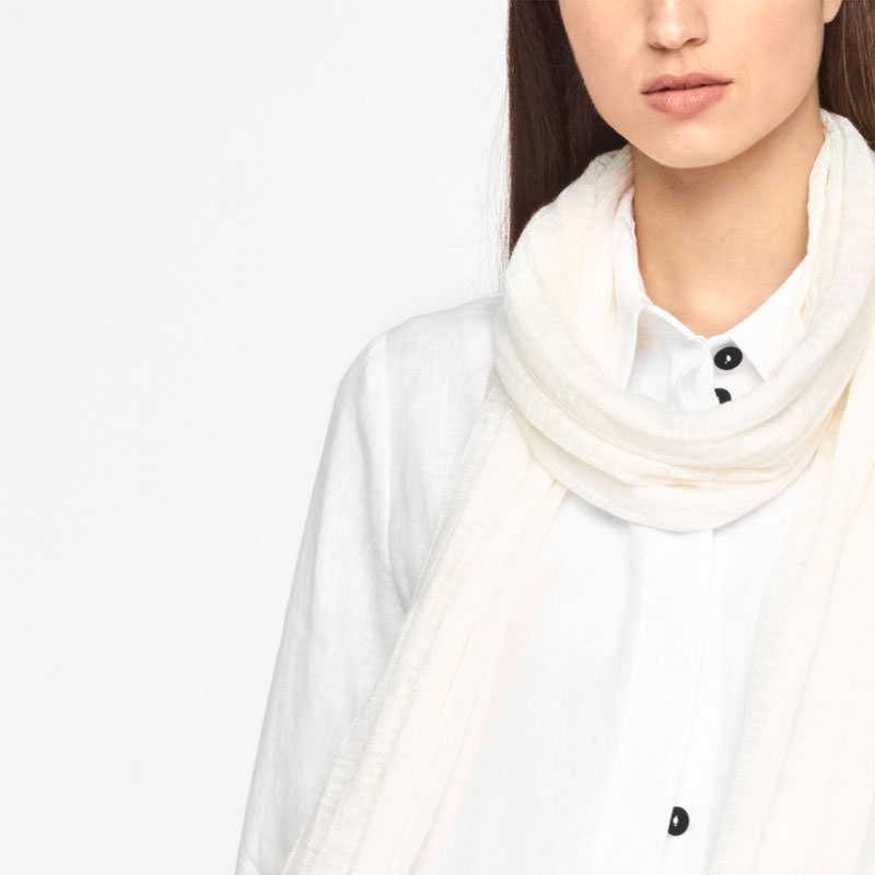 Sarah Pacini LINEN SCARF - STRIPED Front