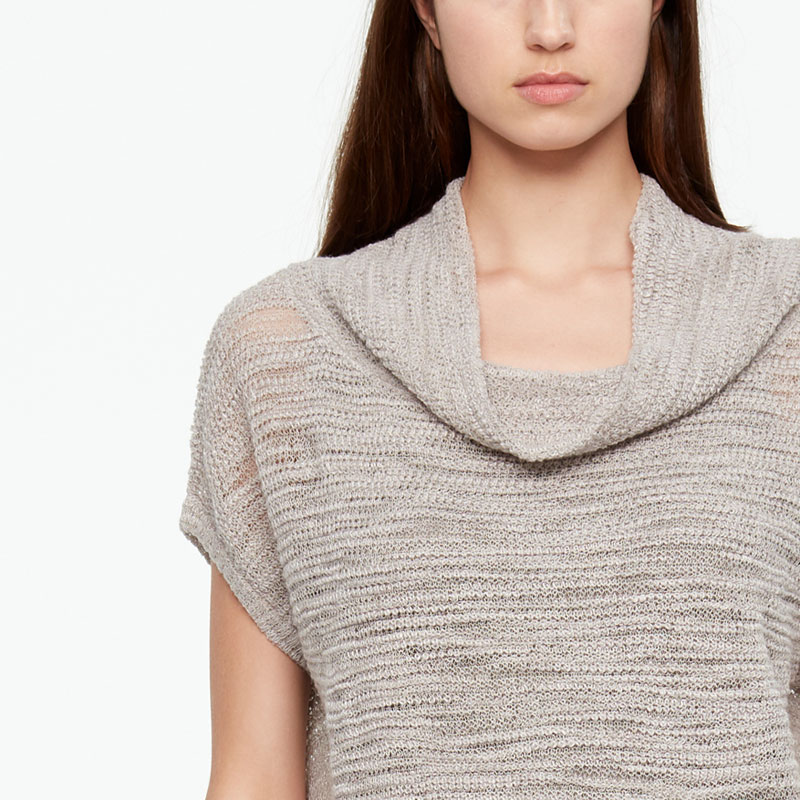 Sarah Pacini OPENWORK SWEATER - SHORT SLEEVES Front