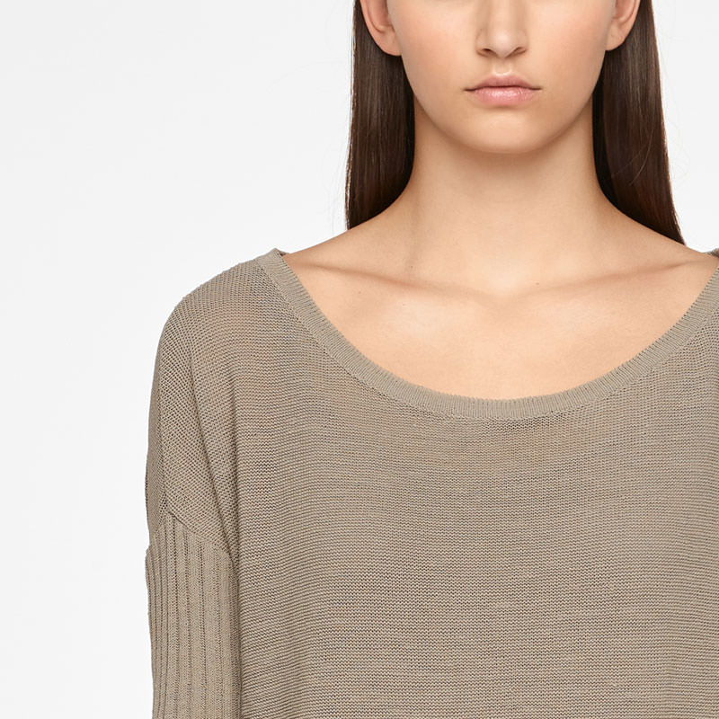 Sarah Pacini SWEATER - PATCH POCKETS Front
