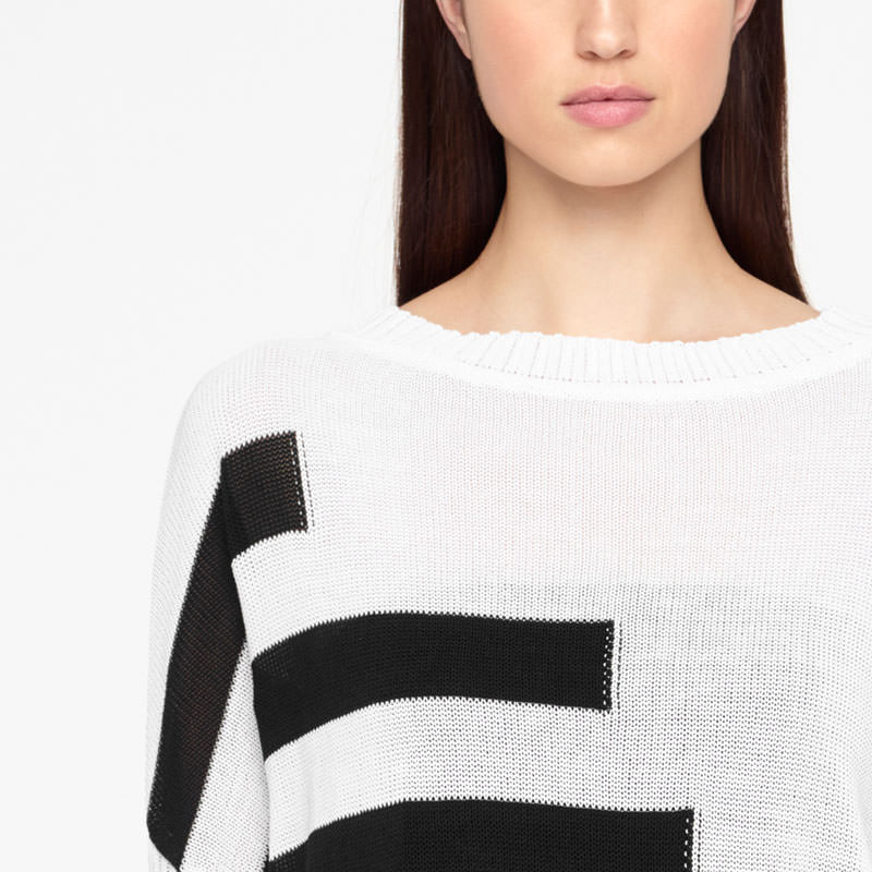 Sarah Pacini SHORT SWEATER - ORGANIC COTTON Front