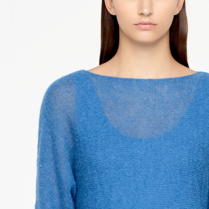 Sarah Pacini MOHAIR SWEATER - HALF SLEEVES Front