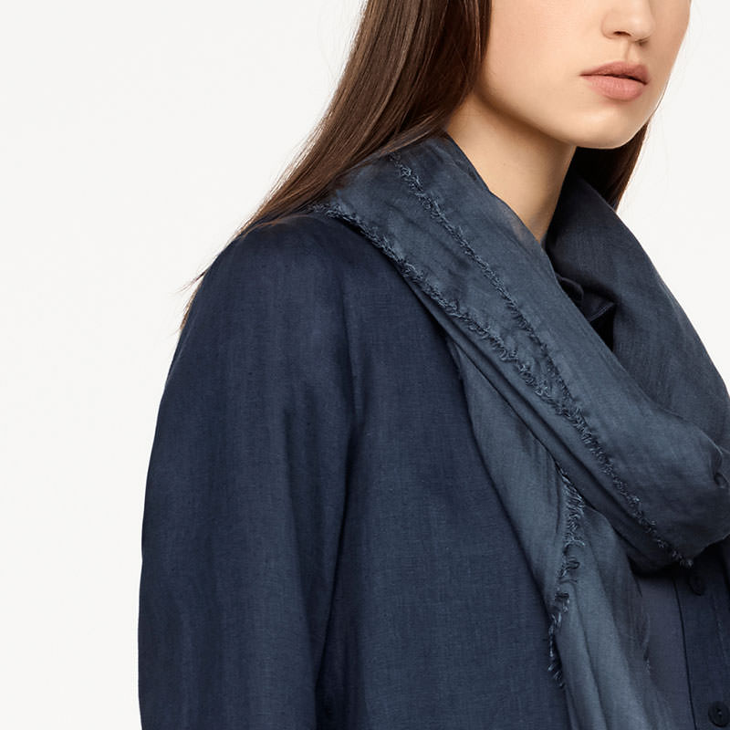 Sarah Pacini SHAWL SCARF - FRAYED EDGES Front