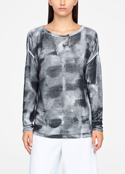 Sarah Pacini TIE-DYE SWEATER - RIBBED Front