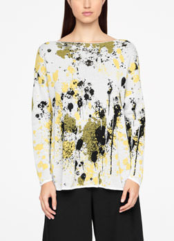 Sarah Pacini MURAL SWEATER - FULL SLEEVES Front