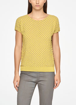 Sarah Pacini MAKO COTTON SWEATER - DAMIER Front