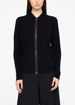 Sarah Pacini CARDIGAN - BORDS EN COTES De face