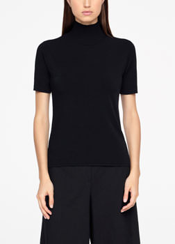 Sarah Pacini SWEATER - RIBBED MOCK NECK Front
