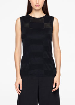 Sarah Pacini LINEN SWEATER - SLEEVELESS Front
