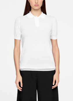 Sarah Pacini POLO SWEATER - MAKO COTTON Front