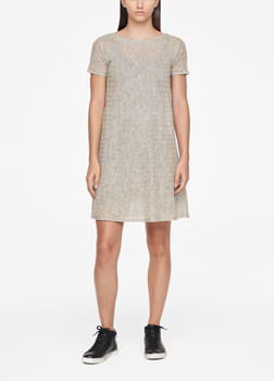 Sarah Pacini LINEN DRESS - STRIPED Front