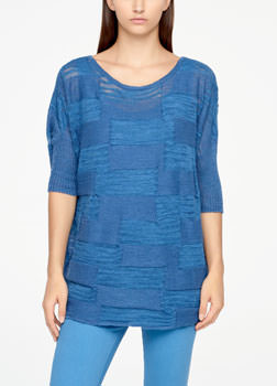 Sarah Pacini LINEN SWEATER - HALF SLEEVES Front