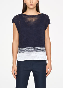 Sarah Pacini OMBRE SWEATER - CAPPED SLEEVES Front