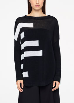 Sarah Pacini LONG SWEATER - ORGANIC COTTON Front