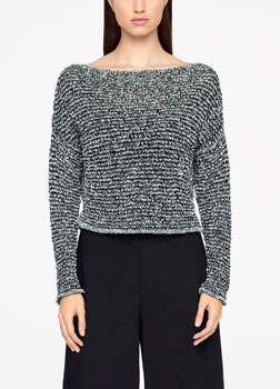 Sarah Pacini CHINÉ SWEATER - CROPPED Front