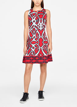 Sarah Pacini GRAPHIC DRESS - KNEE-LENGTH Front