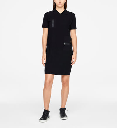 Sarah Pacini DRESS - ZIPPER DETAILS Front
