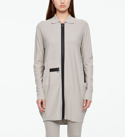 Sarah Pacini CARDIGAN LONG - MULTI-ZIPS De face