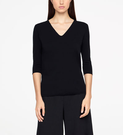 Sarah Pacini SHORT SWEATER - LETTERING Front