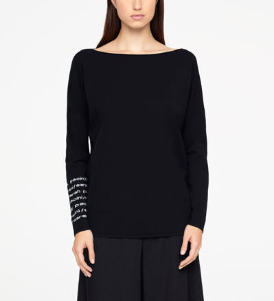 Sarah Pacini SWEATER - LETTERING Front