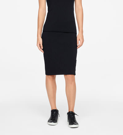 Sarah Pacini PENCIL SKIRT - BUTTON SLIT Front