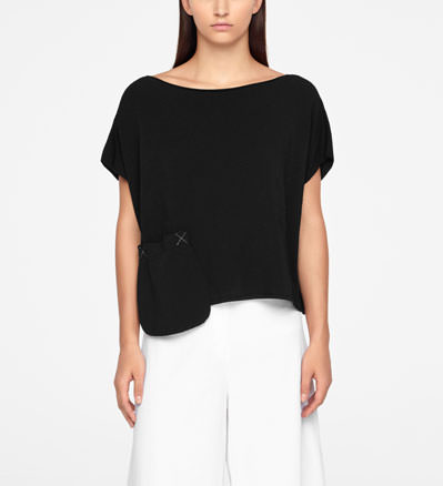 Sarah Pacini SWEATER - CAP SLEEVES Front