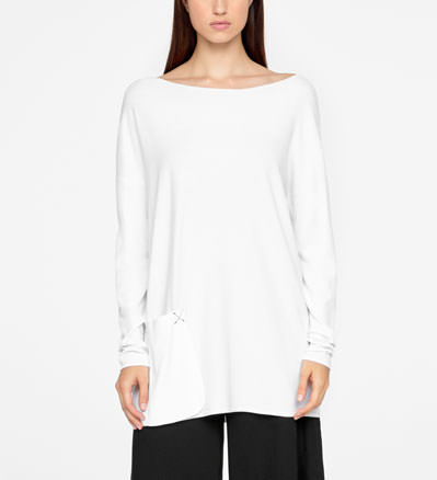 Sarah Pacini LONG SWEATER - POUCH POCKET Front