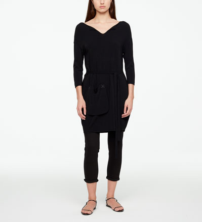 Sarah Pacini KNEE-LENGTH DRESS - POUCH POCKET Front