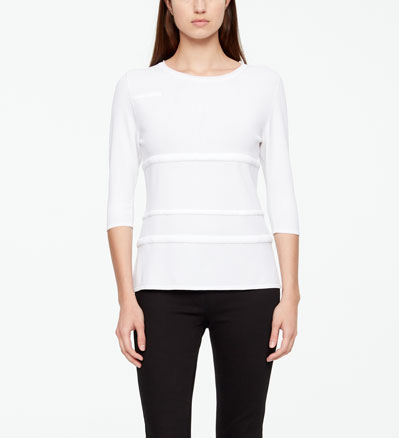 Sarah Pacini SWEATER - PUFFED DETAILS Front
