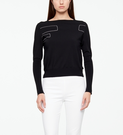 Sarah Pacini SWEATER - BRICKWORK Front