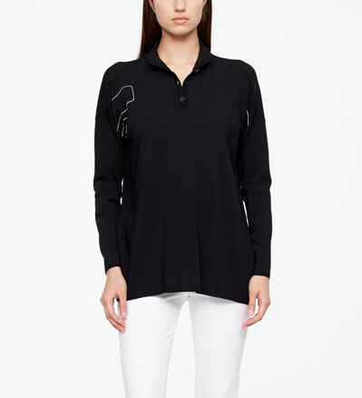 Sarah Pacini LONG SWEATER - BRICKWORK Front