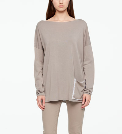 Sarah Pacini SWEATER - GRAPHIC POCKET Front