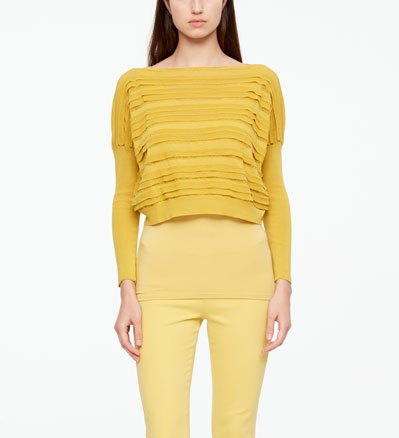 Sarah Pacini MAKO COTTON SWEATER - CROPPED Front