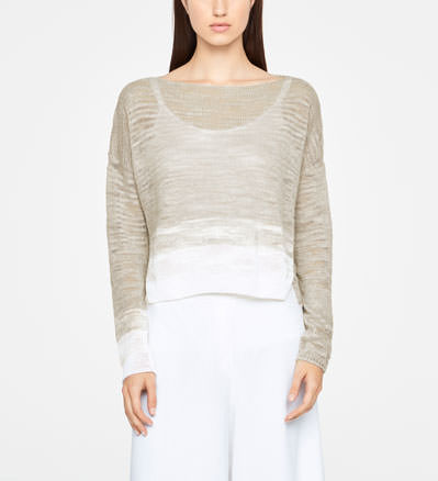 Sarah Pacini OMBRE SWEATER - SIDE SLITS Front