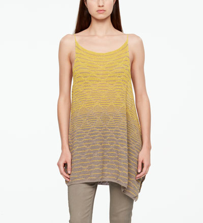 Sarah Pacini LINEN SWEATER - SIDE SLIT Front