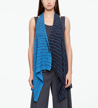 Sarah Pacini OPENWORK CARDIGAN - BACKLESS Front