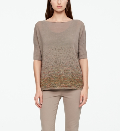 Sarah Pacini LINEN SWEATER - STARRY NIGHT Front