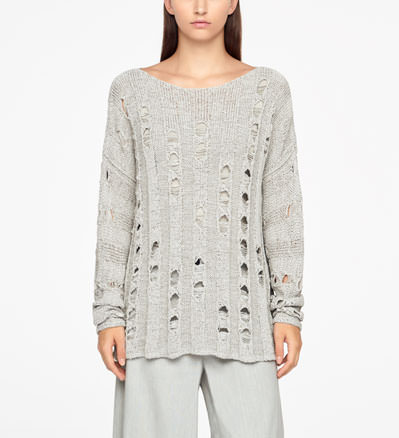 Sarah Pacini LONG SWEATER - OPENWORK Front