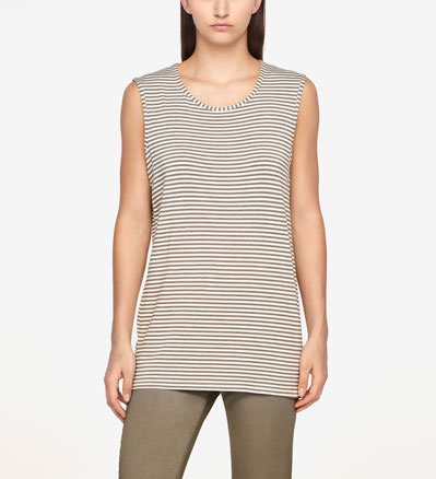Sarah Pacini STRIPED TOP - SLEEVELESS Front