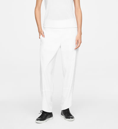 Sarah Pacini LINEN PANTS - SLANTED HEMS Front