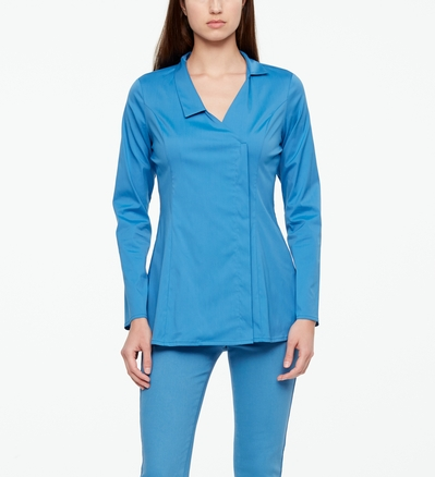 Sarah Pacini STRETCH-COTTON SHIRT Front