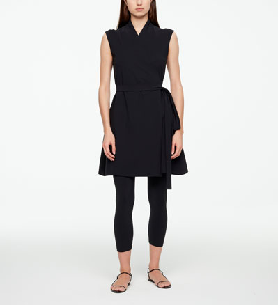 Sarah Pacini WRAP DRESS - TECHNO FABRIC Front
